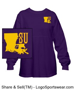 Geaux Tigers Pom Pom Pullover Design Zoom